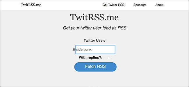 How to Follow a Twitter Feed in Your RSS Reader