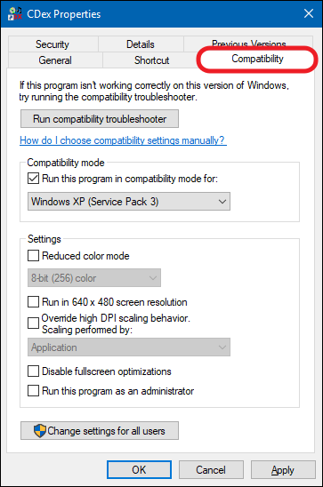 win 10 driver compatibility mode