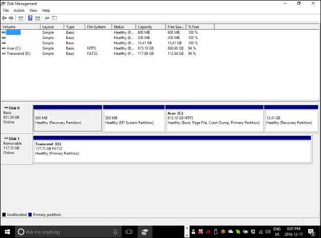 What Do the Hash Marks on a Partition in Disk Management Mean?