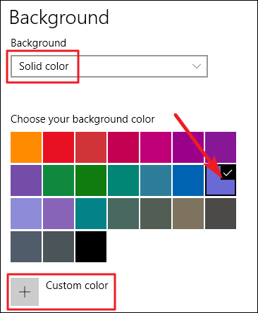 choosing a solid color background