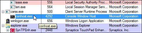 multiple conhost.exe