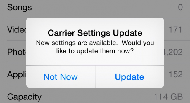 what are carrier settings for iphone what is that carrier settings update popup on your iphone 6351