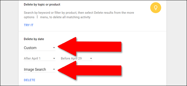 how to delete youtube search history on pc