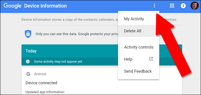 how to get rid of my activity google