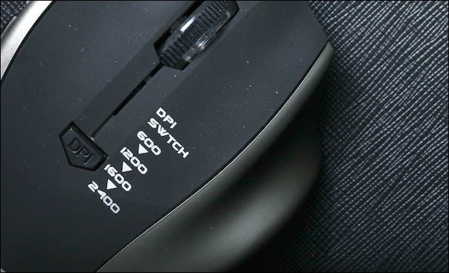 DPI buttons on a gaming mouse