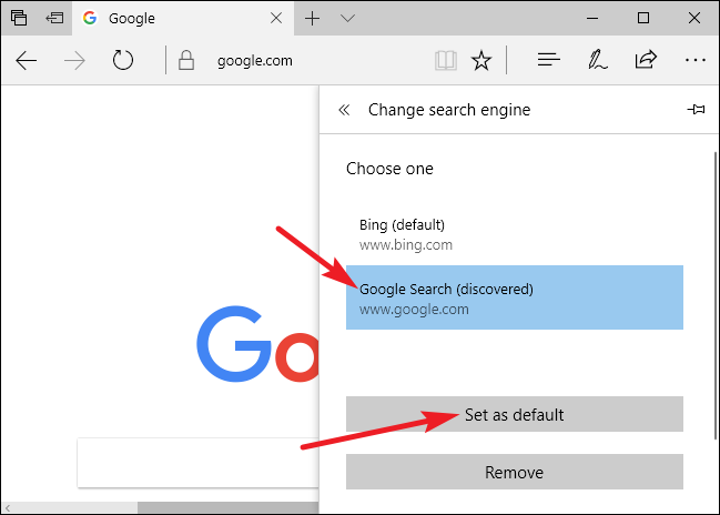 set google as default search engine in chrome