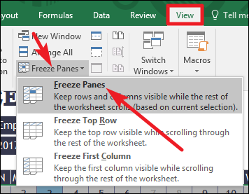 How To Freeze And Unfreeze Rows And Columns In Excel
