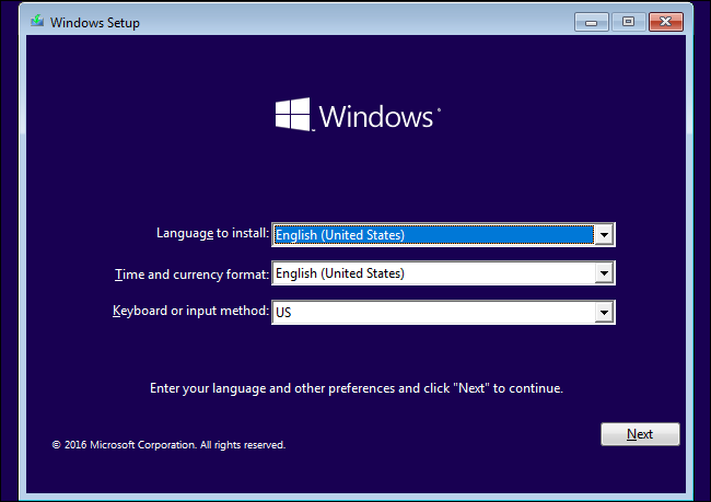 How to install free windows 10 on new computer using