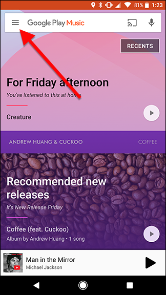 How to Refresh Your Google Play Music Library and Find Your