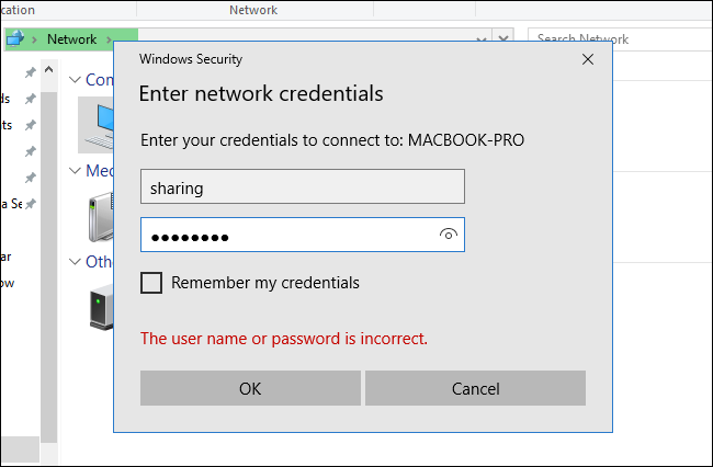 access network computer without password