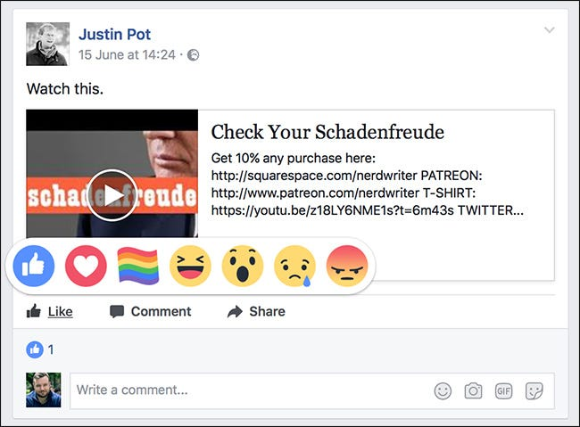 How To Add A Different Reaction To A Facebook Post Like A Heart Or