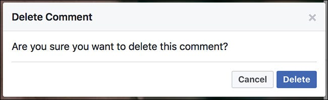 What happens when i delete someone comment on facebook