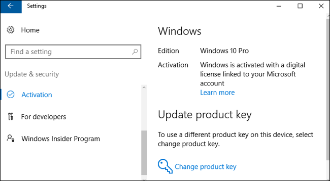 how to view current license key windows 10