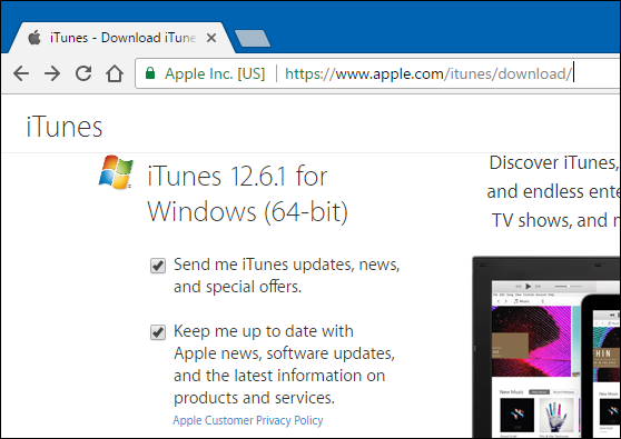 itunes download for pc 64 bit windows 8