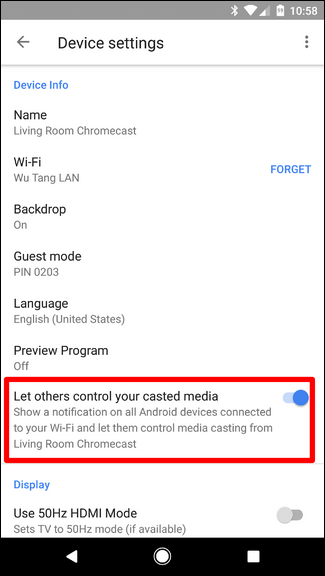 how to stop cast notification