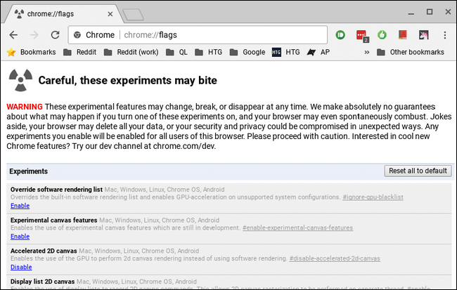 How to Get Access to Experimental Features in Chrome (and on