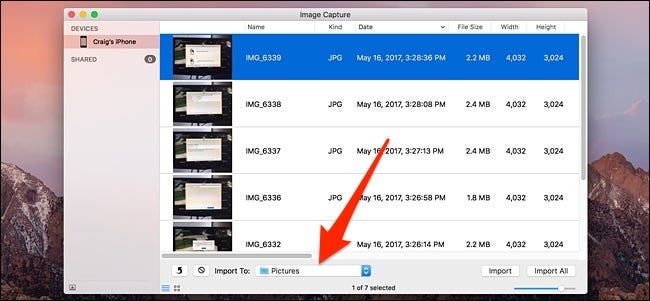 How to transfer pictures from photos to folder on mac