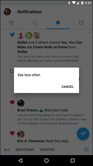 how to turn off highlights on twitter