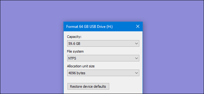 How to Erase and Format a Drive in Windows