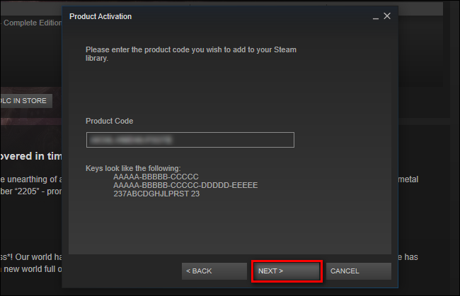 find account by cd key steam
