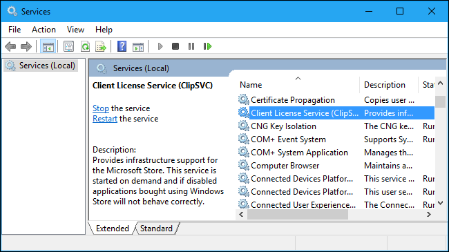 windows 10 home disable appx deployment service