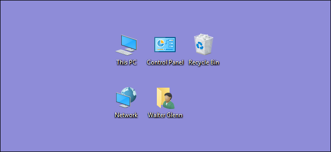 windows 10 default desktop icons for all users