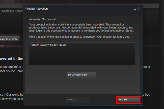 activation key steam mobile