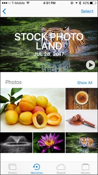 how to create memories iphone