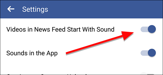 how to stop videos playing onfacebook