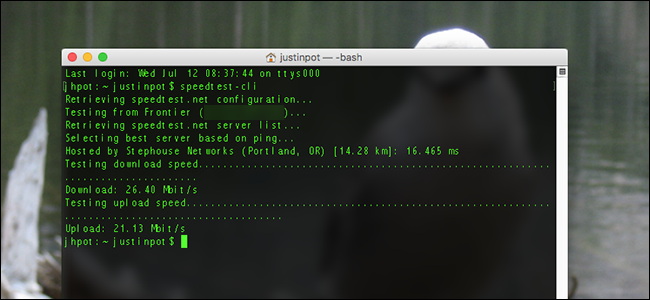 Frontier Speed Test >> How To Test Your Internet Speed From The Command Line