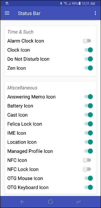 How to Hide Icons in Android's Status Bar