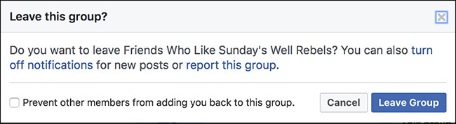 facebook how to leave group