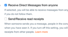 How to Allow (or Disallow) Direct Messaging from Everyone on Twitter
