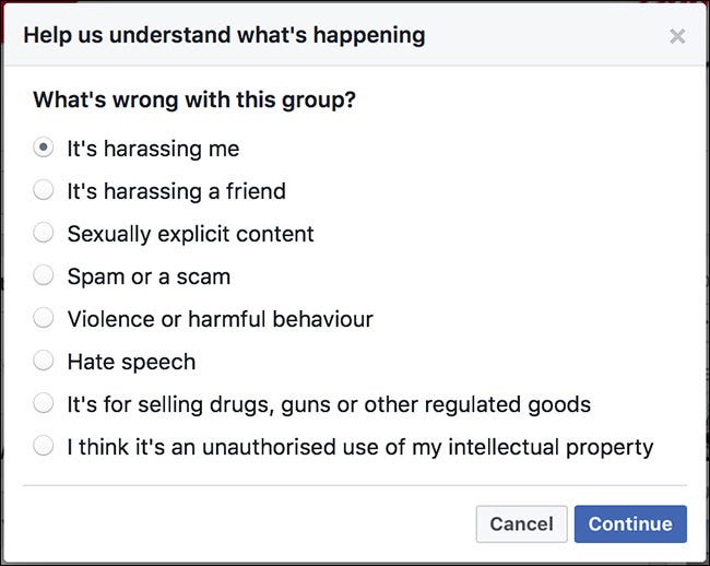 How to Report a Whole Facebook Group