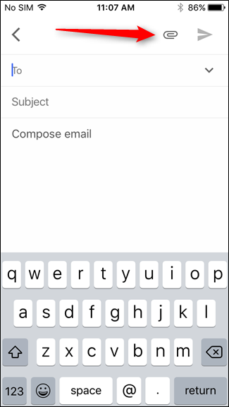How to attach multiple files to email on iphone 6