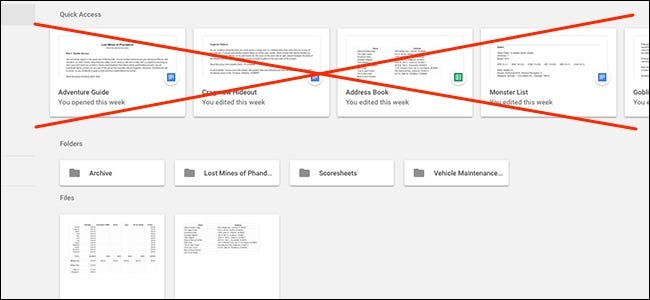 """How to Disable the """"Quick Access"""" Shortcuts in Google Drive"""
