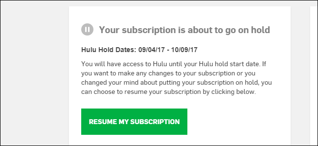 How to Put a Hold On Your Hulu Subscription Without Canceling