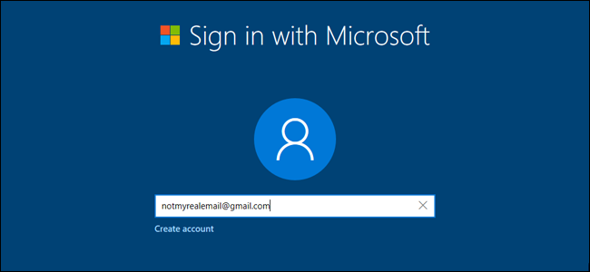 how to change the email log in windows 10
