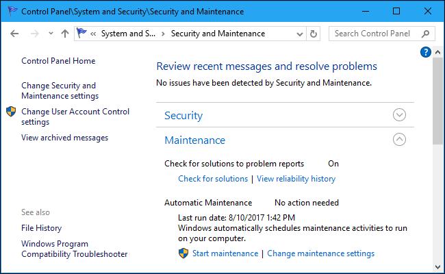 Cách lên lịch bảo trì tự động hệ thống Windows 10 - VERA STAR