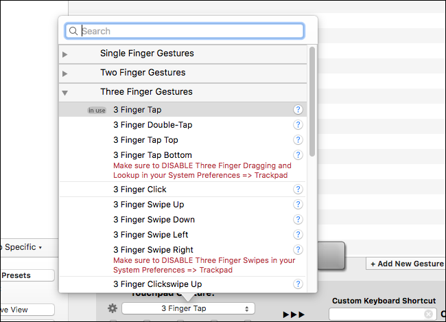 how to change mac trackpad to right click