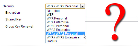 setting a wpa security key for the wlan