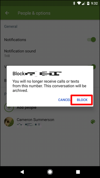 how to send a text from a blocked number