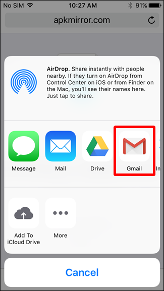 how to open attachments in gmail on iphone