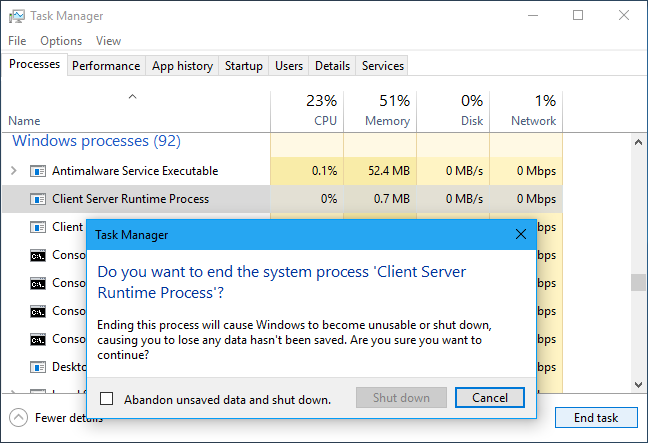 client.exe virus removal