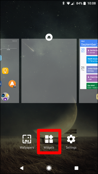 how to find widgets on note 4