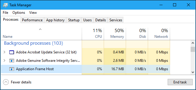 """What Is """"Application Frame Host"""" and Why Is It Running on My PC?"""