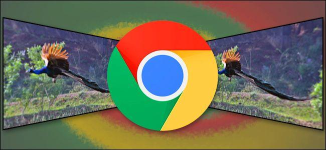 Stylized Chrome logo with photos
