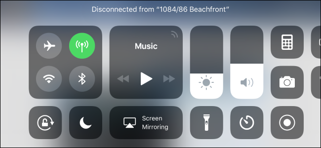 iOS 11's Control Center Doesn't Truly Disable Wi-Fi or