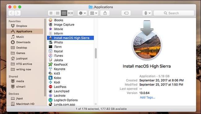 download macos high sierra not from app store