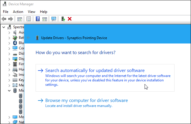 reinstall touchpad driver windows 7